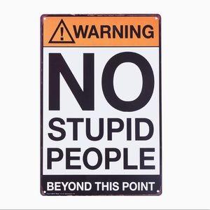 KALAN Funny Metal Tin Sign Warning